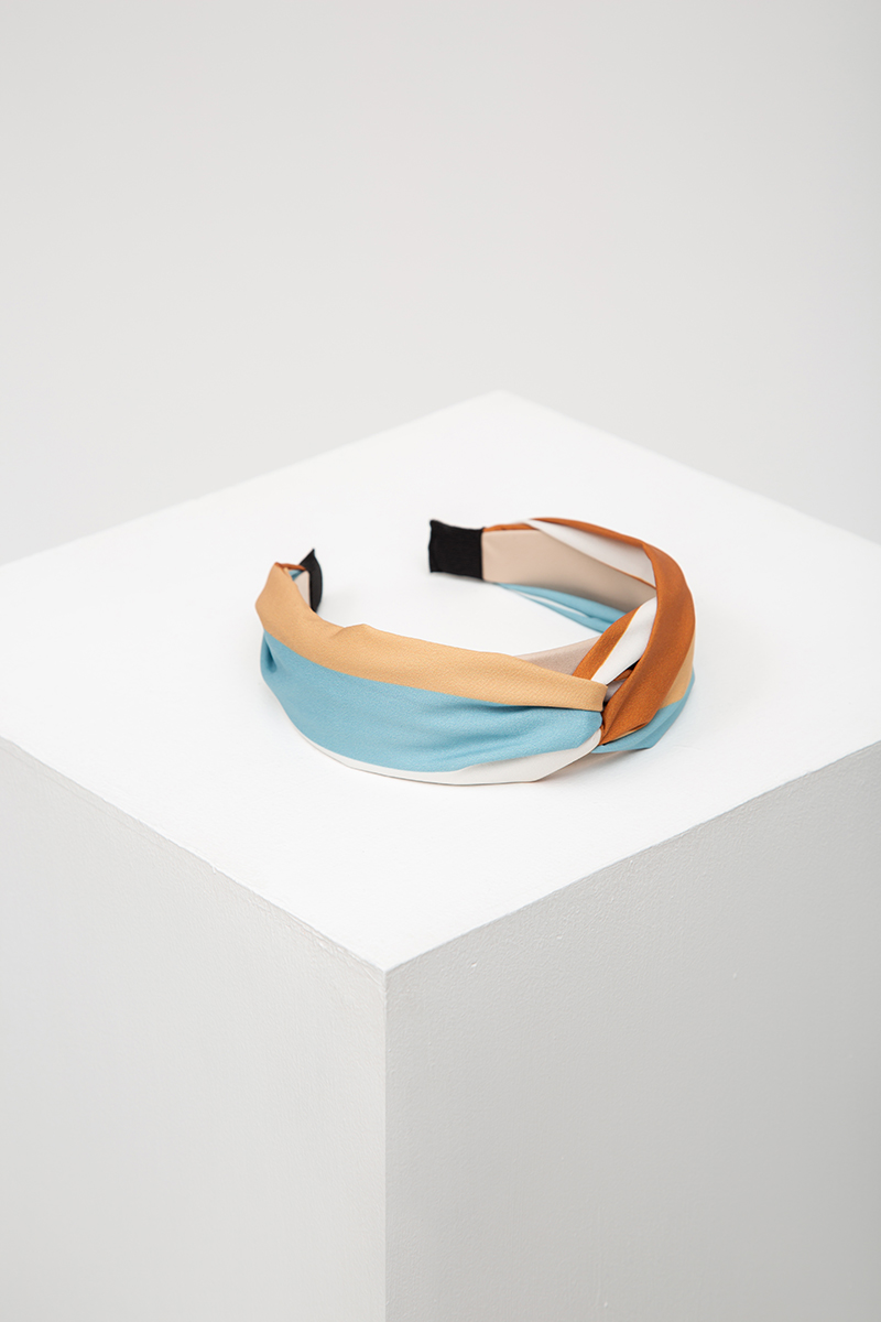 *BACKORDER* MULTI-COLOURED FABRIC TWIST HEADBAND