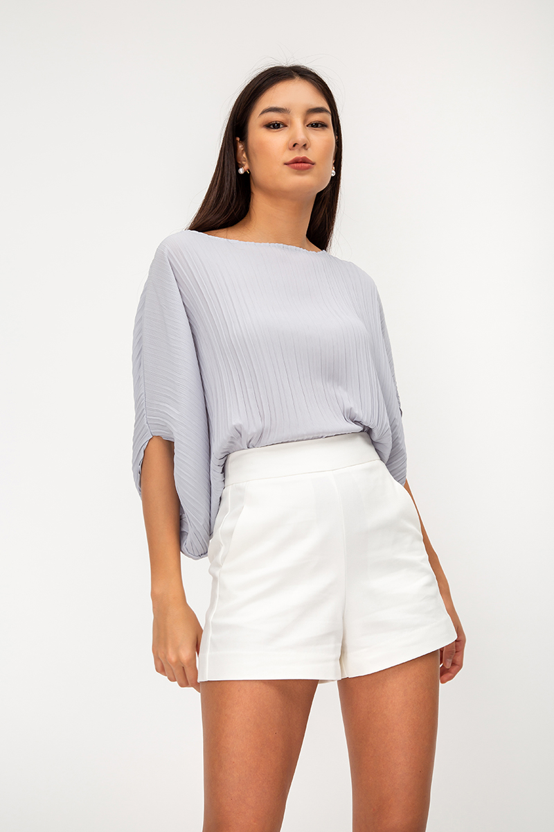 GLADYS PLEATED BATWING TOP