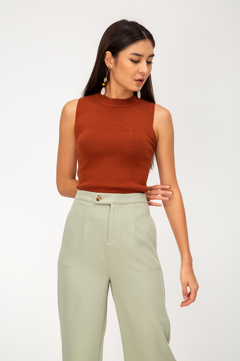 MAVIS BUTTON HIGHWAIST CULOTTES