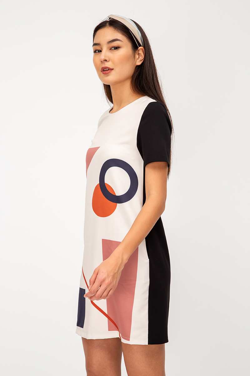 DACIA ABSTRACT SHIFT DRESS