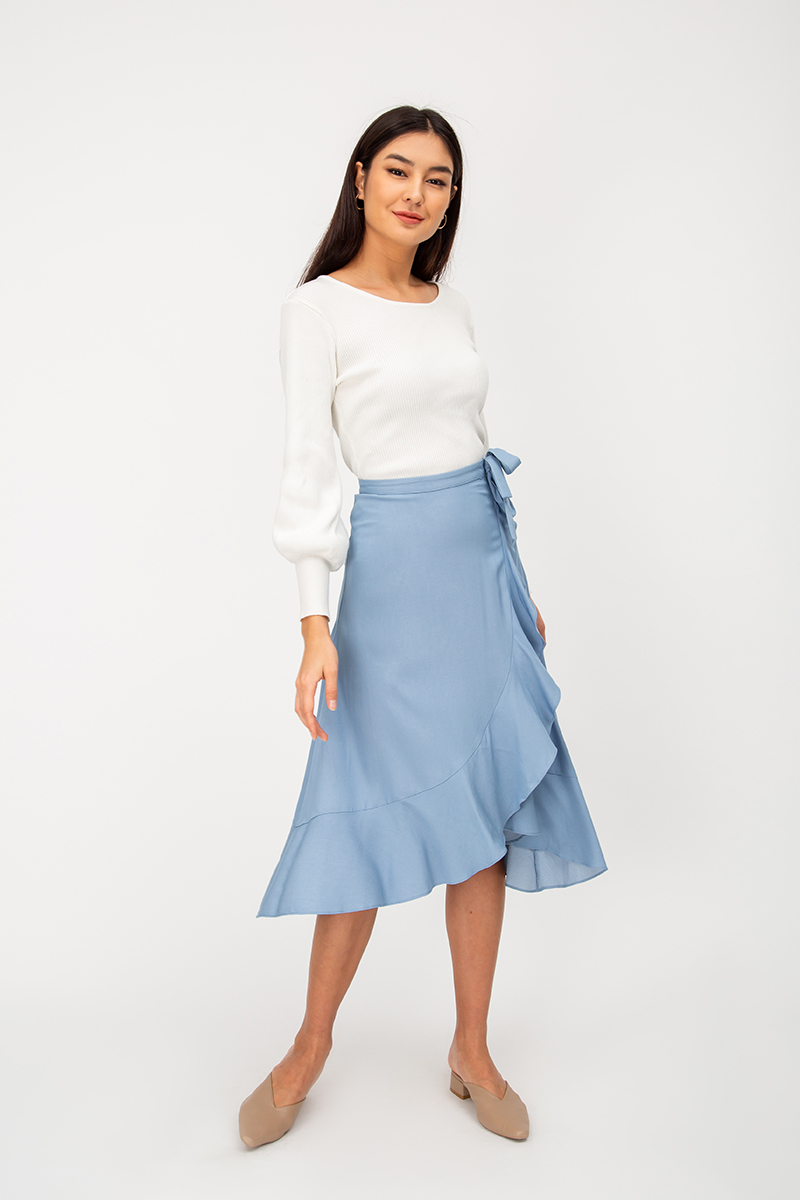 MADISON RUFFLE MIDI SKIRT