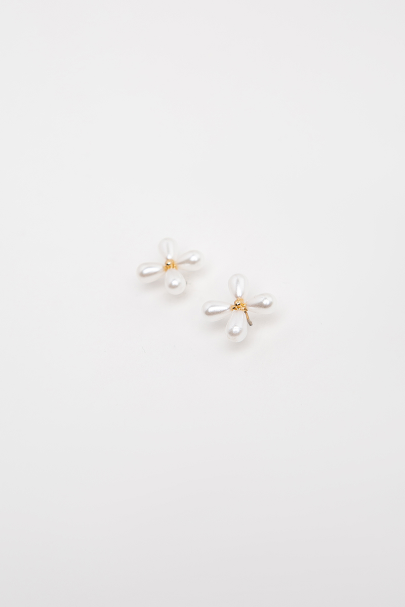 FOUR LEAF JASMINE EARRINGS