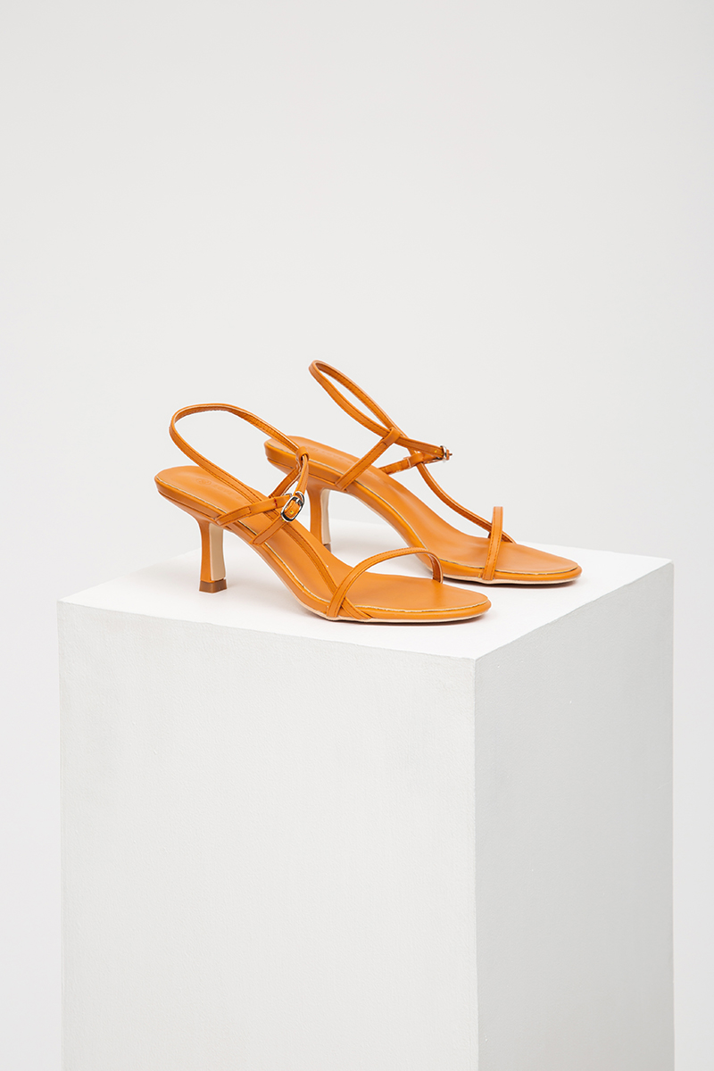 INKA STRAPPY MID-HEEL SANDALS