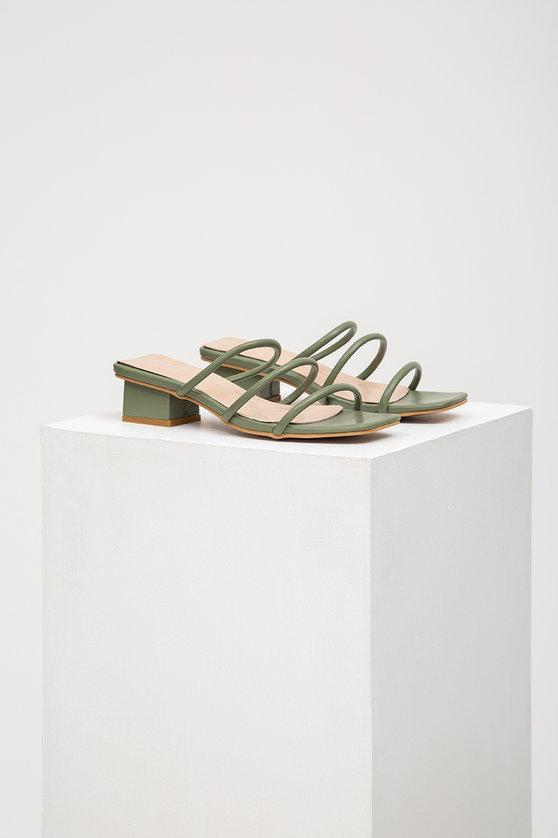NORA STRAPPY HEELED SANDALS