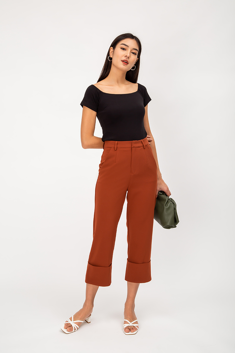 JACKIE CUFFED HIGHWAIST PANTS