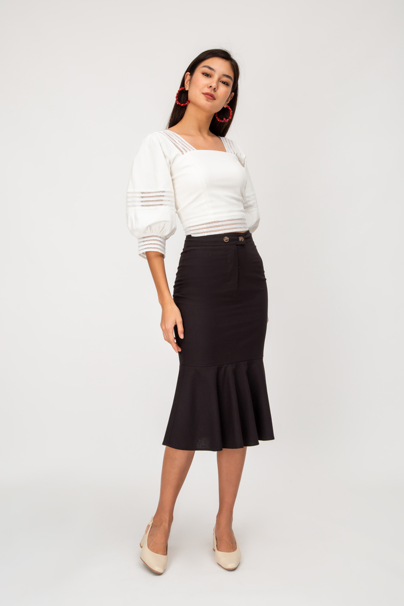 ROBYN BUTTON MERMAID SKIRT