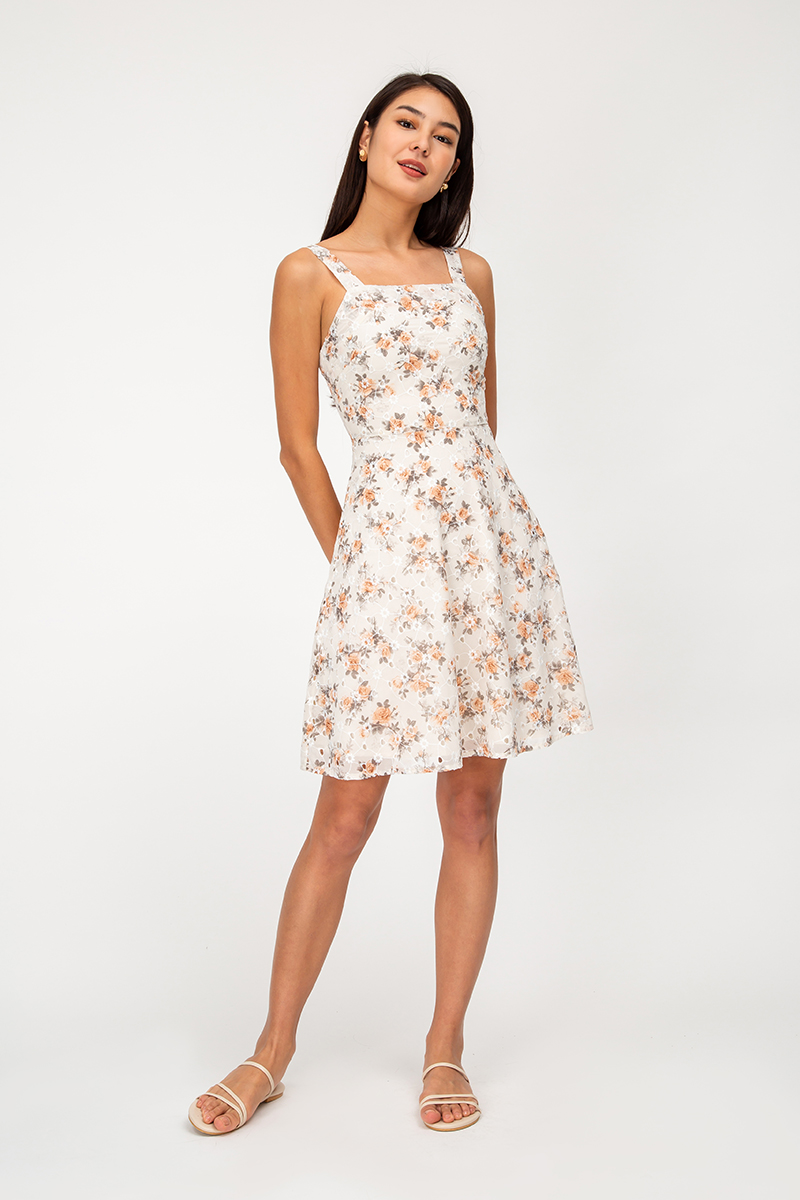 ESTIE FLORAL EYELET DRESS