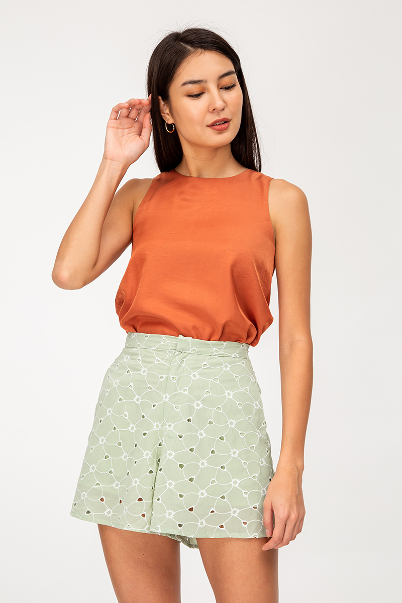 RAISIE EYELET HIGHWAIST SHORTS