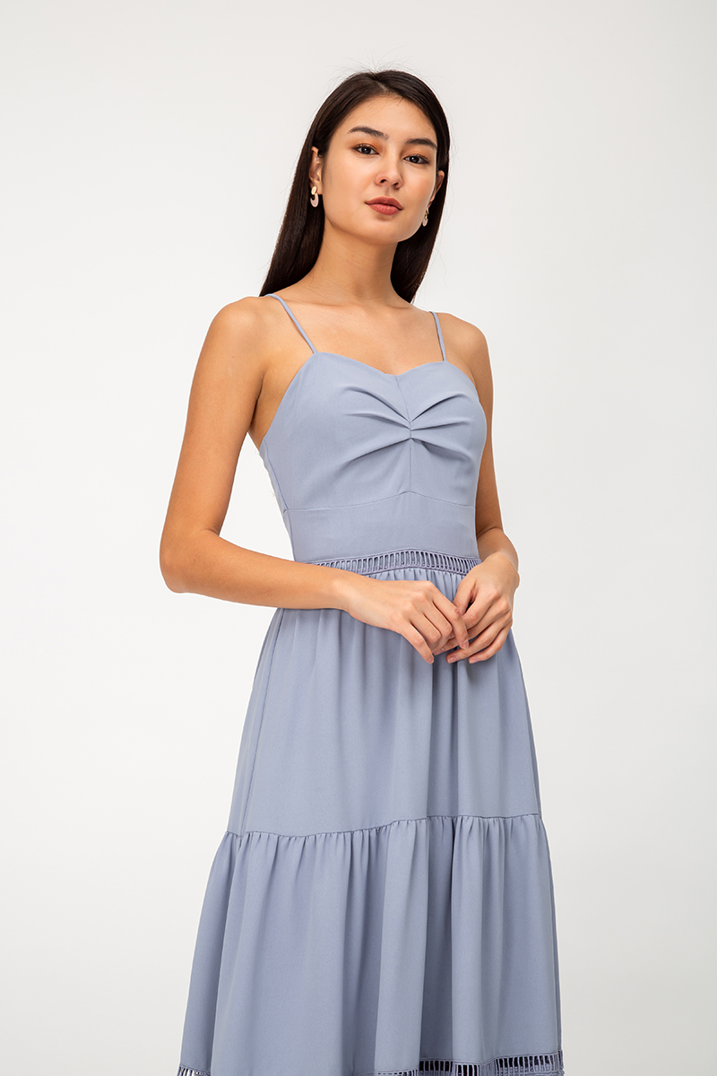 LILIET RUCHED TIERED MAXI