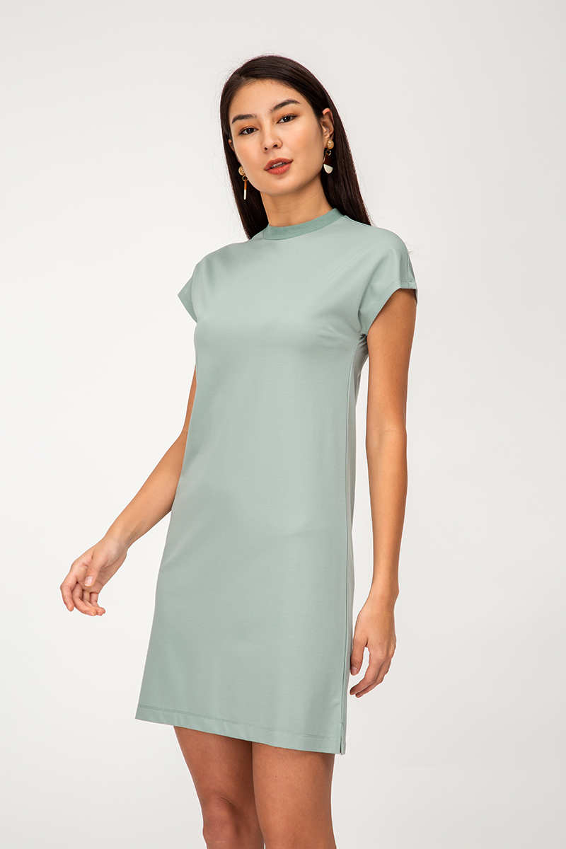 SAWYER HIGHNECK BASIC DRESS