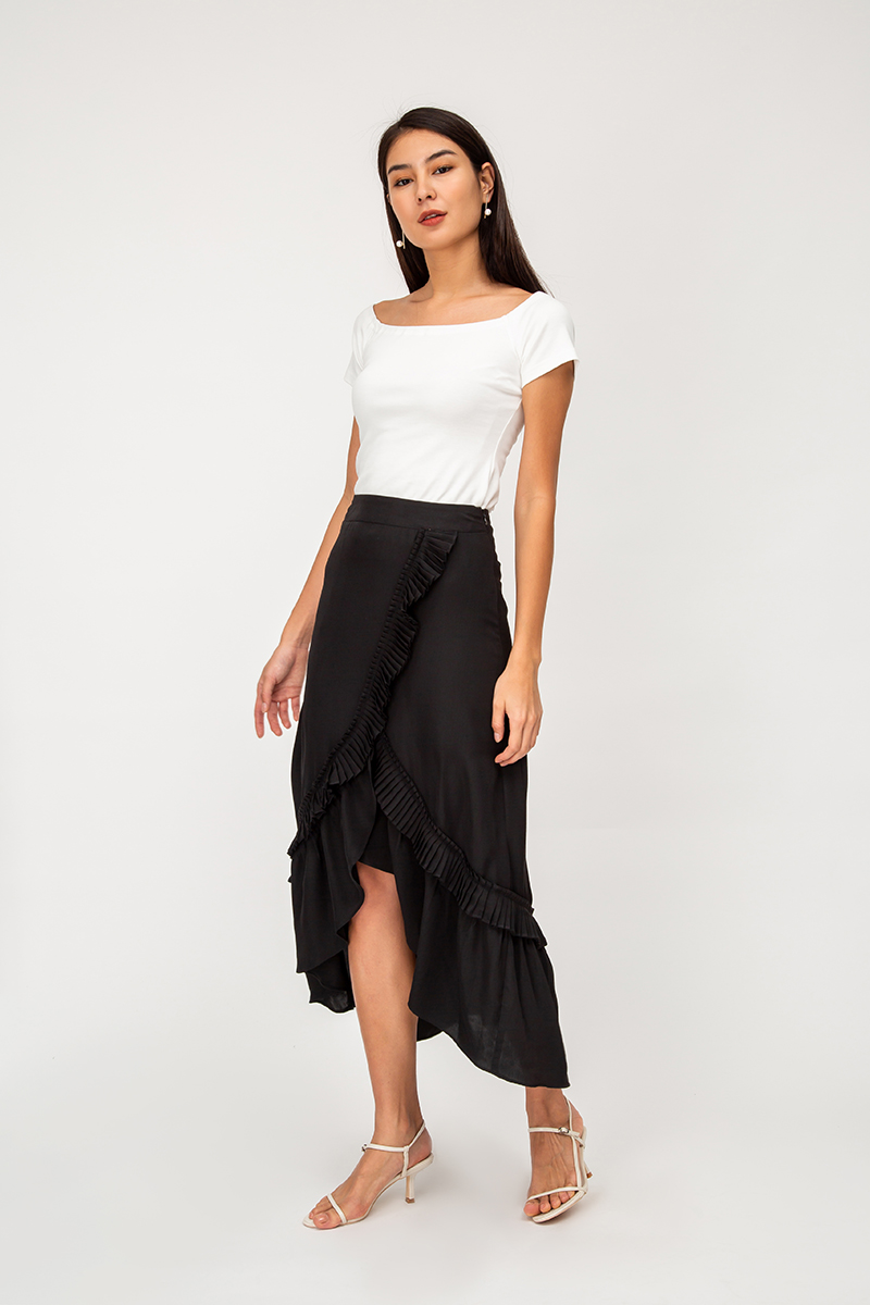 TAMMY PLEATED RUFFLE SKIRT