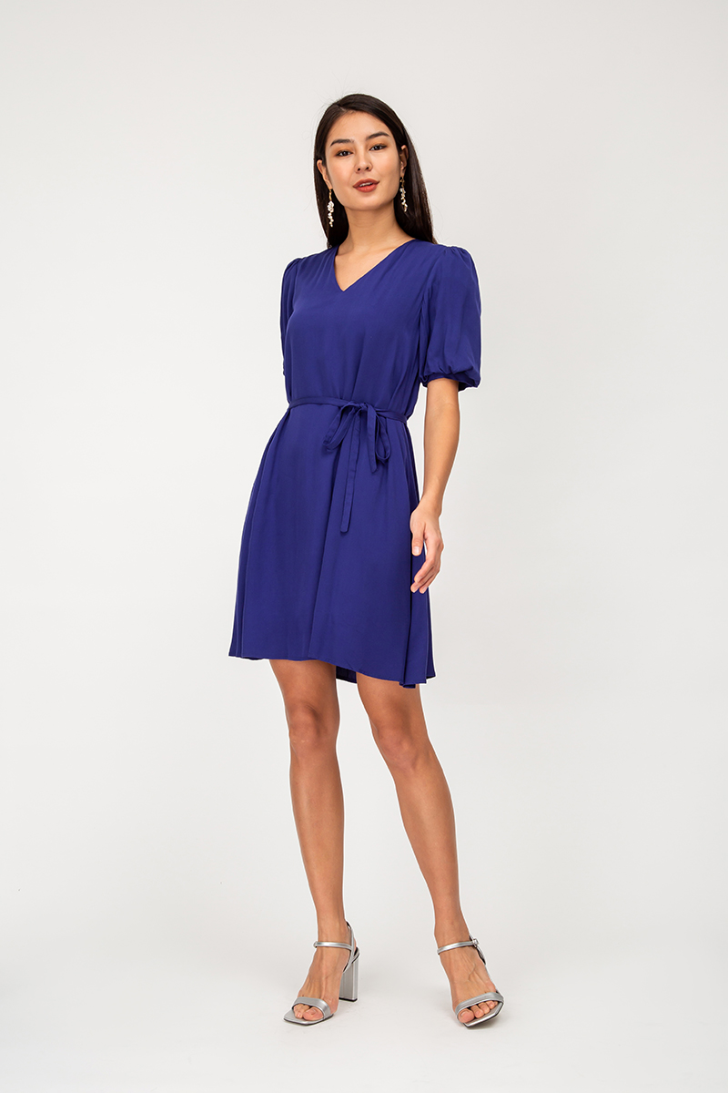 MELISSA PUFF SLEEVE DRESS W SASH