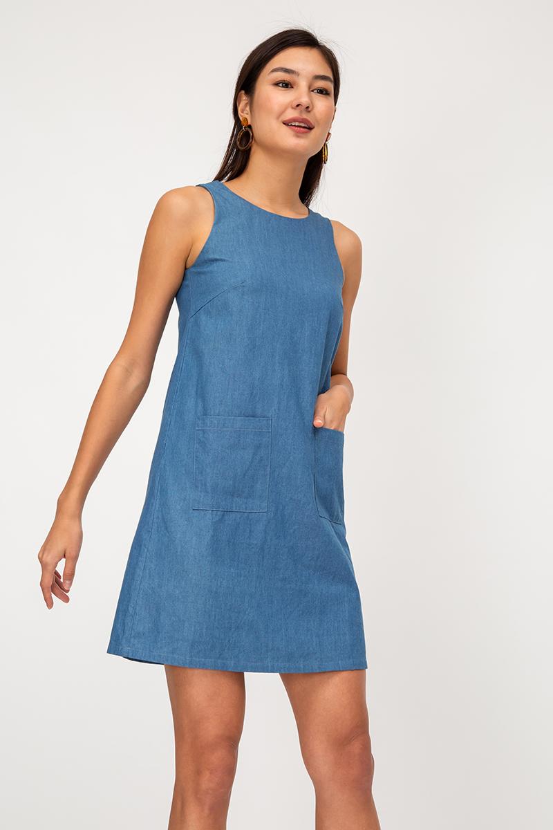 LUCA DENIM SHIFT DRESS