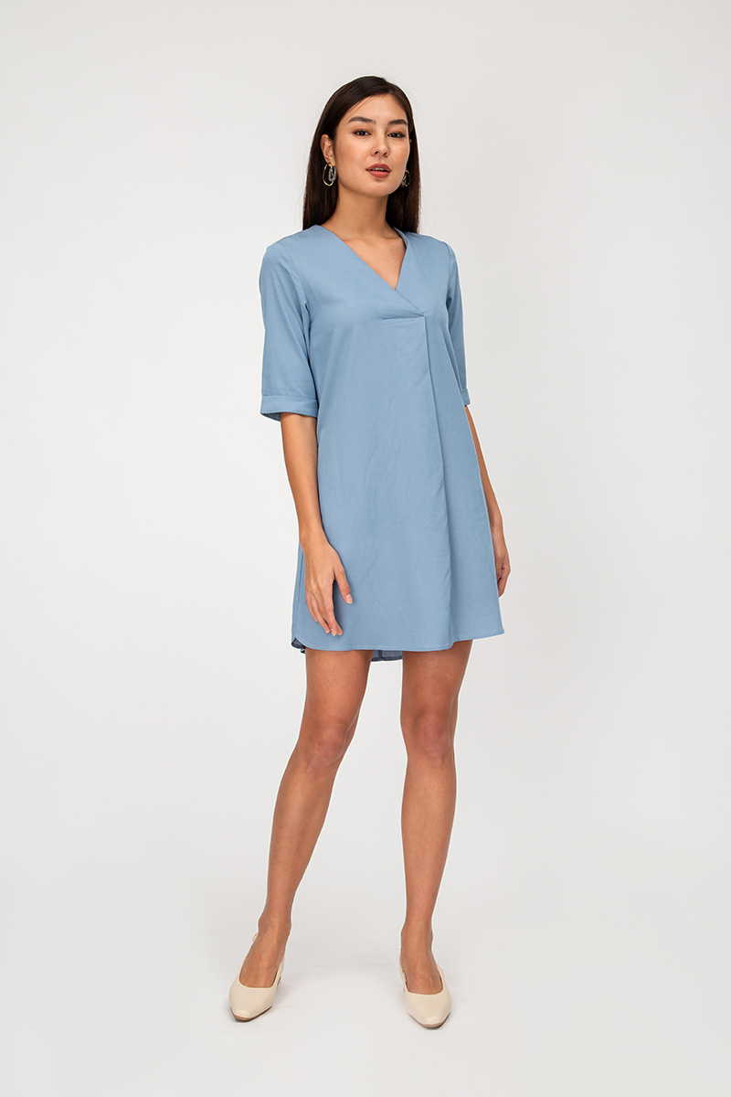 MIRIA VNECK TENCEL DRESS