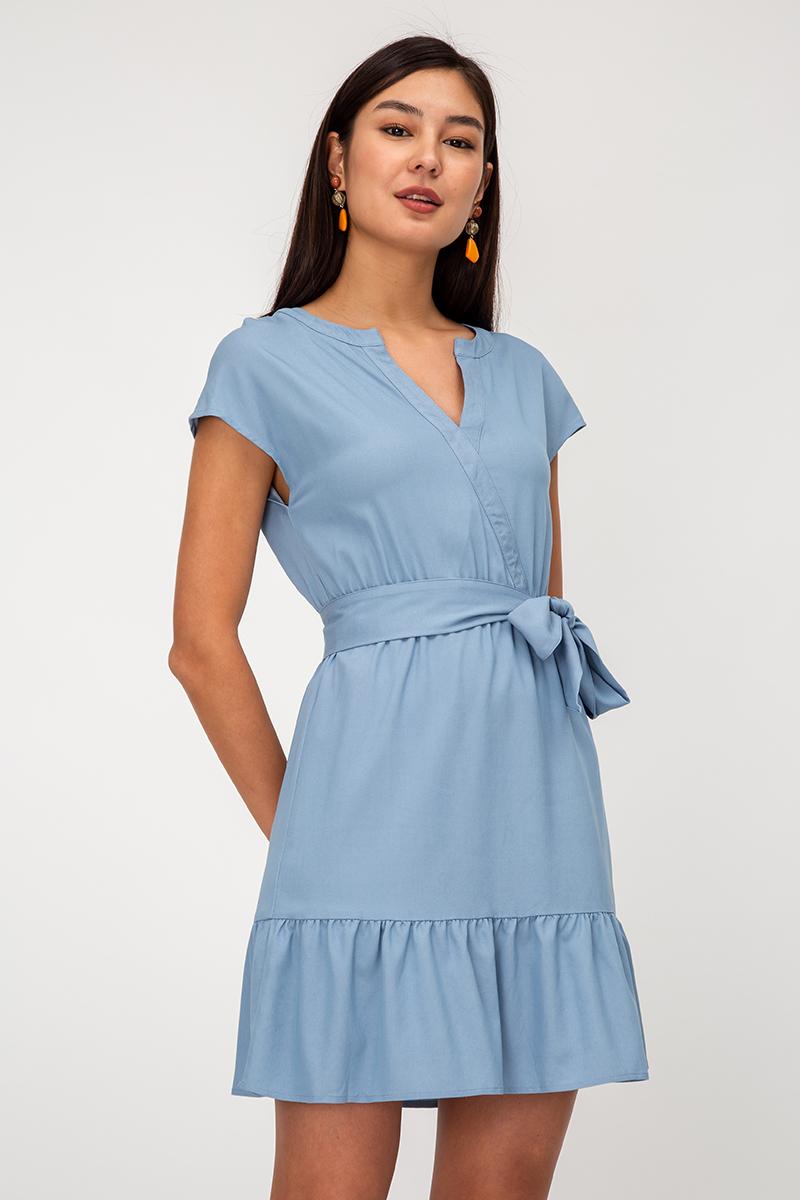 DANIA NOTCH NECKLINE DRESS W SASH
