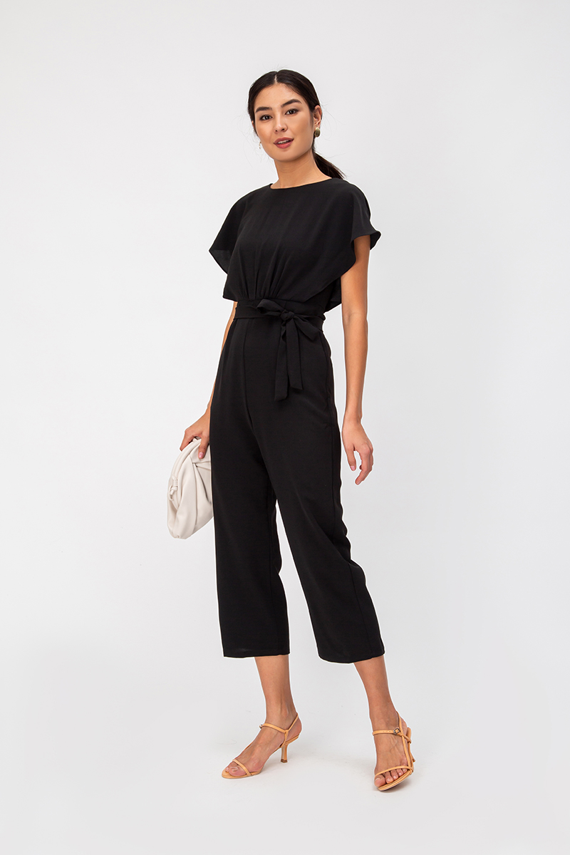 JERICE RUCHED JUMPSUIT