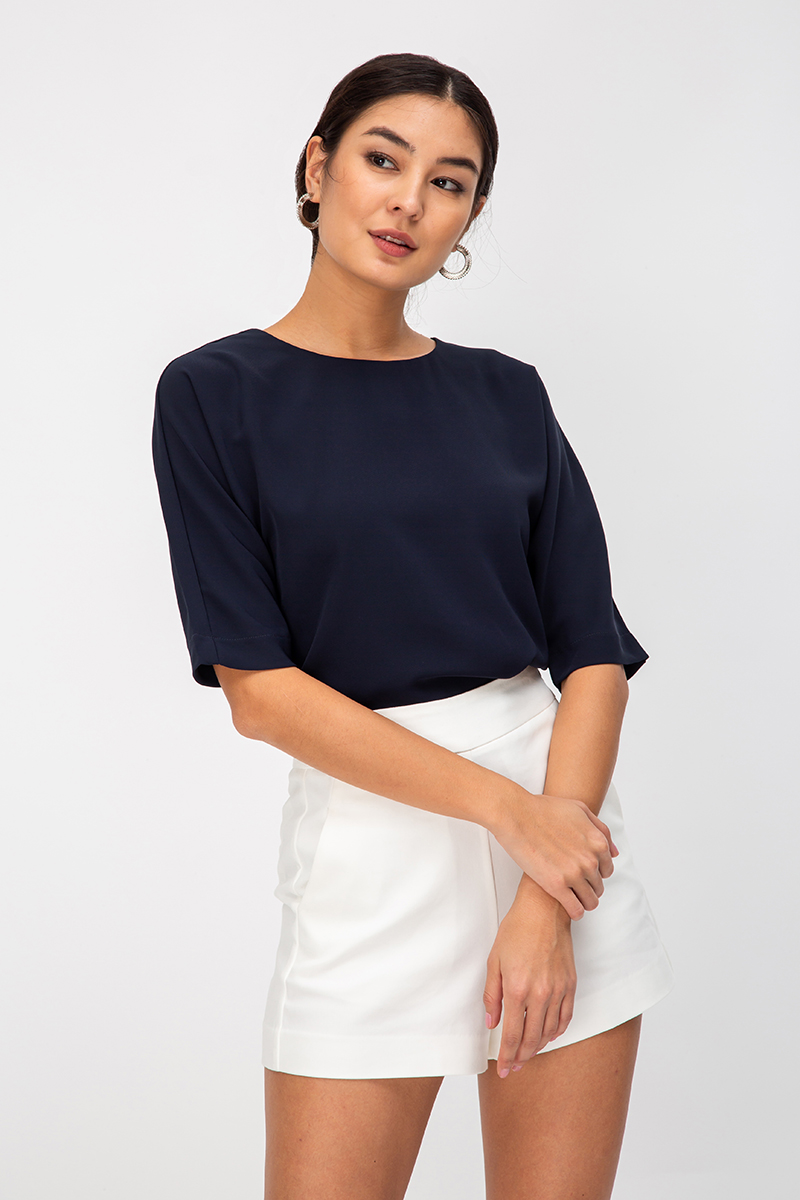 BENCIE BACK BUTTON TOP