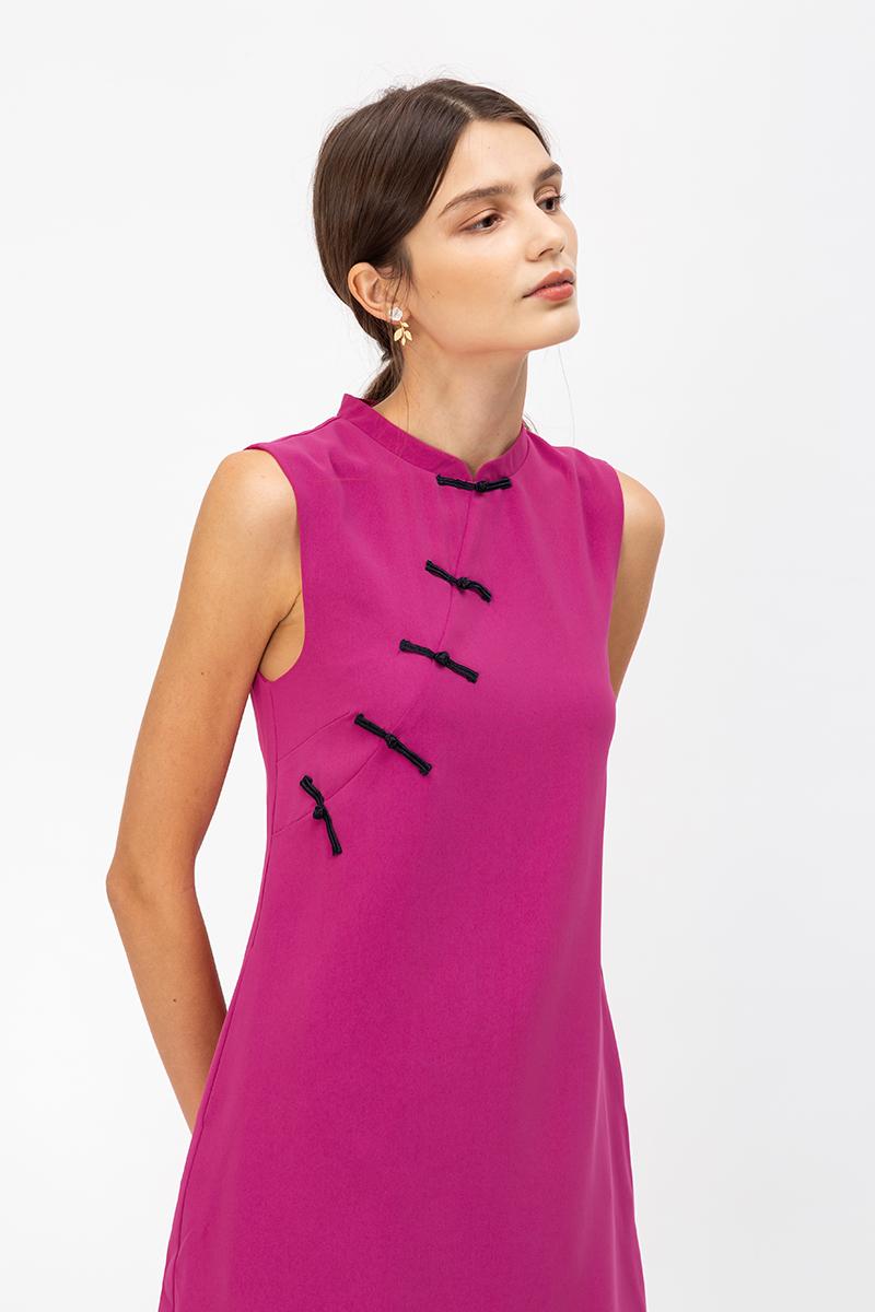 LINETTI CHEONGSAM SHIFT DRESS