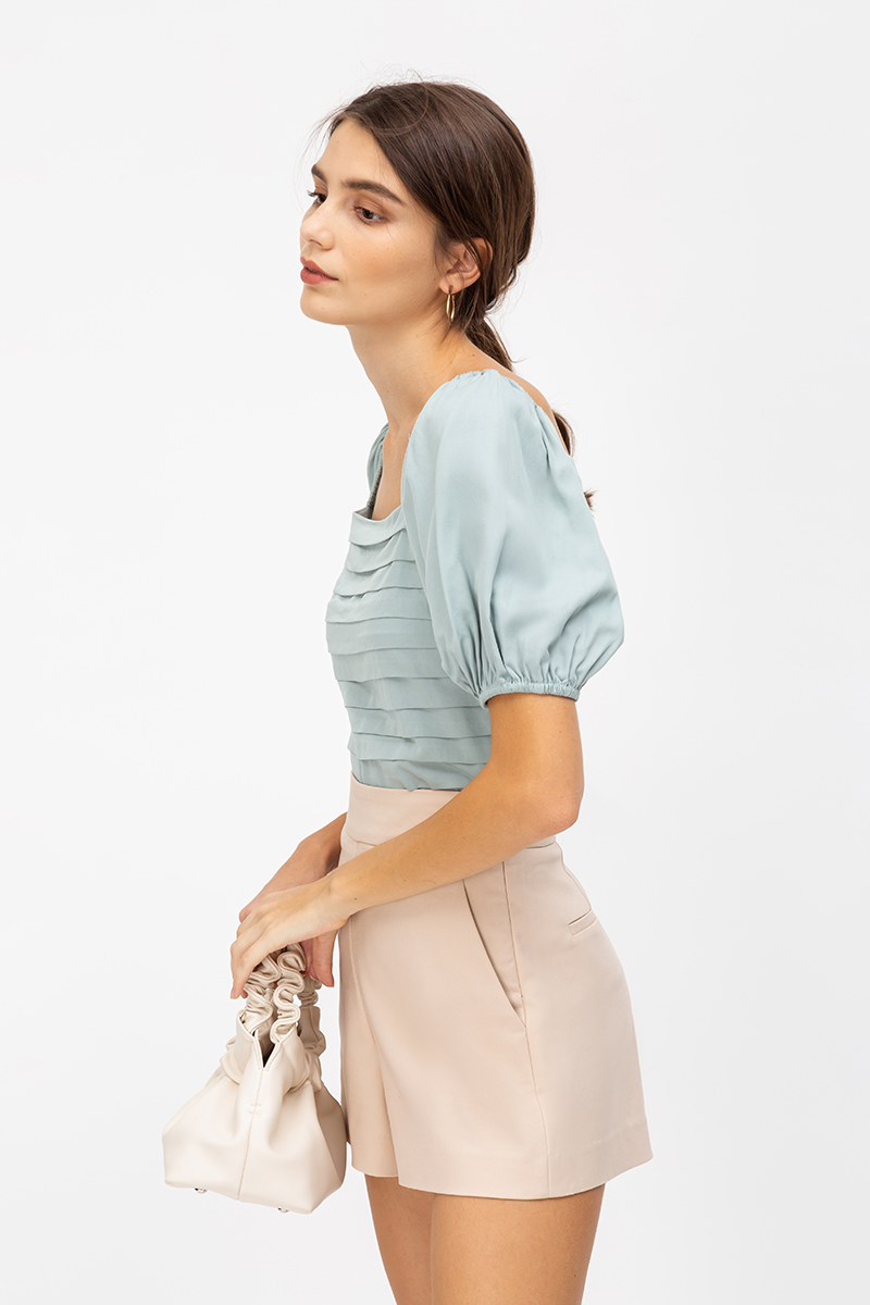 *PREORDER* CLARISSA PANEL PUFF SLEEVE TOP