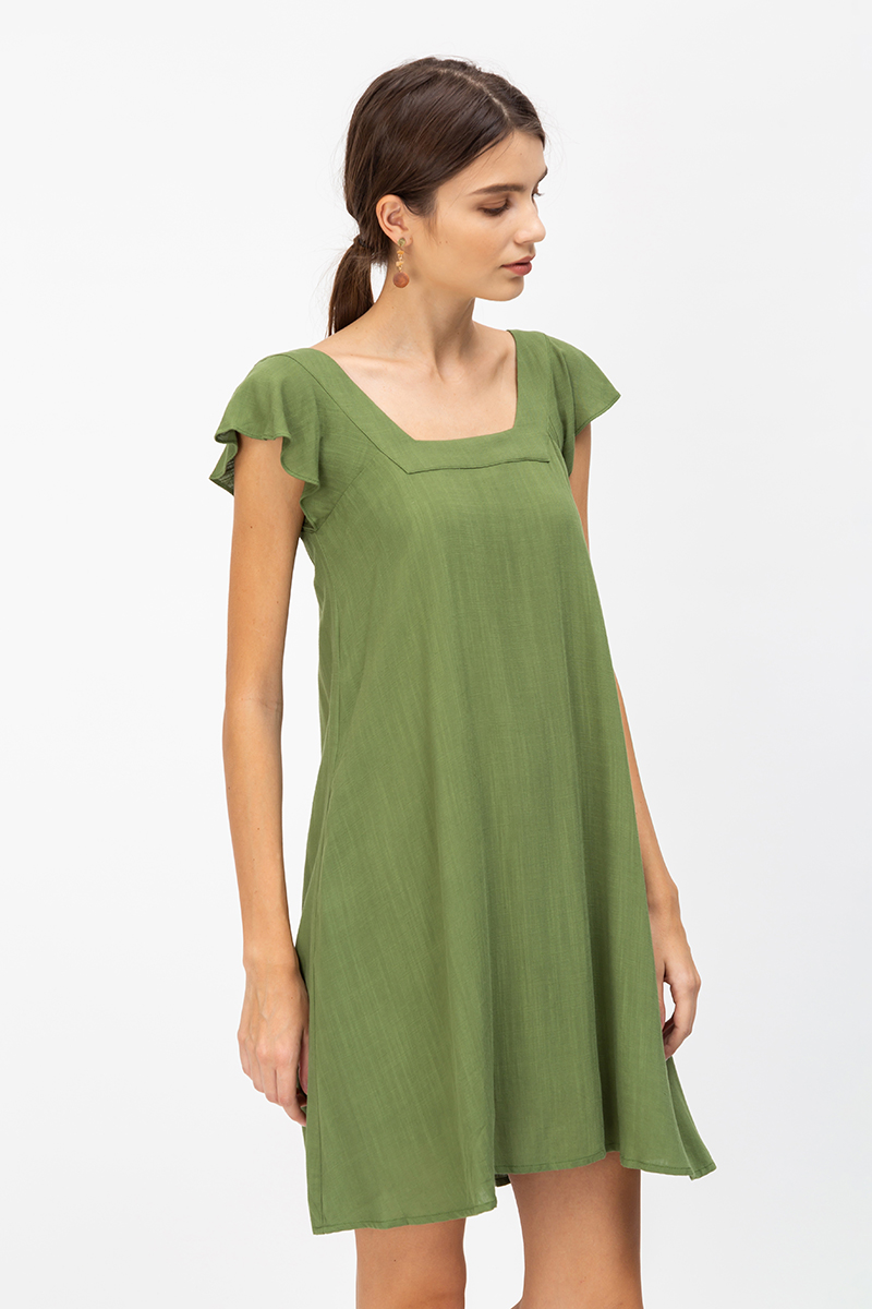 DELINA SQUARENECK TWOWAY DRESS