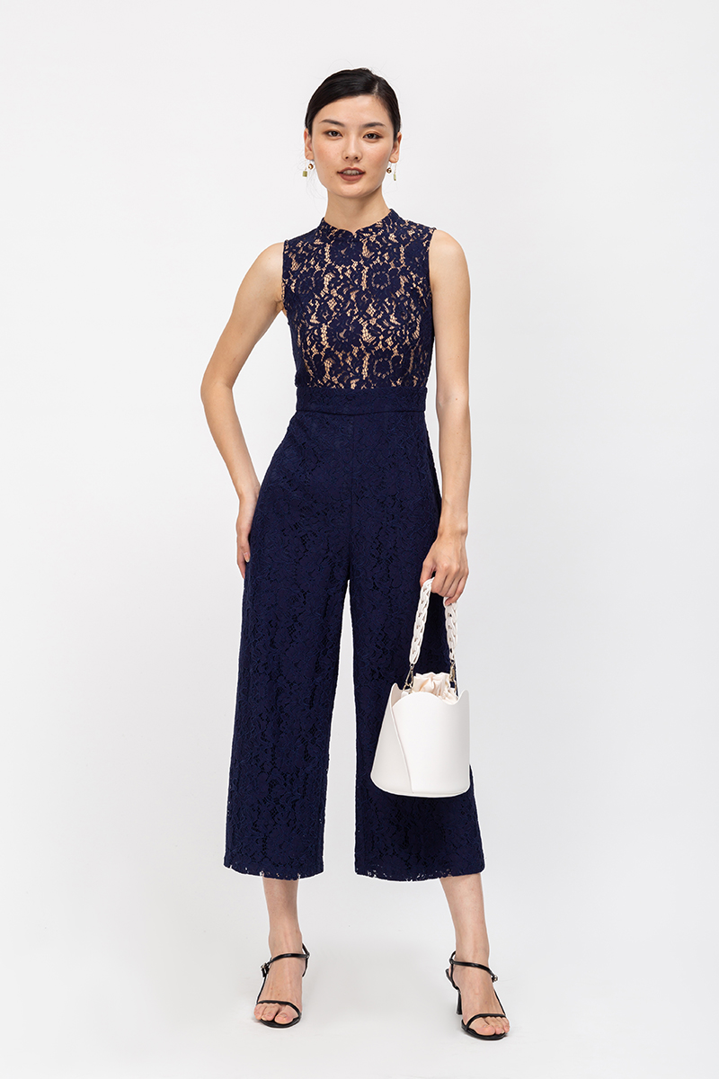 SHARENE LACE CHEONGSAM JUMPSUIT