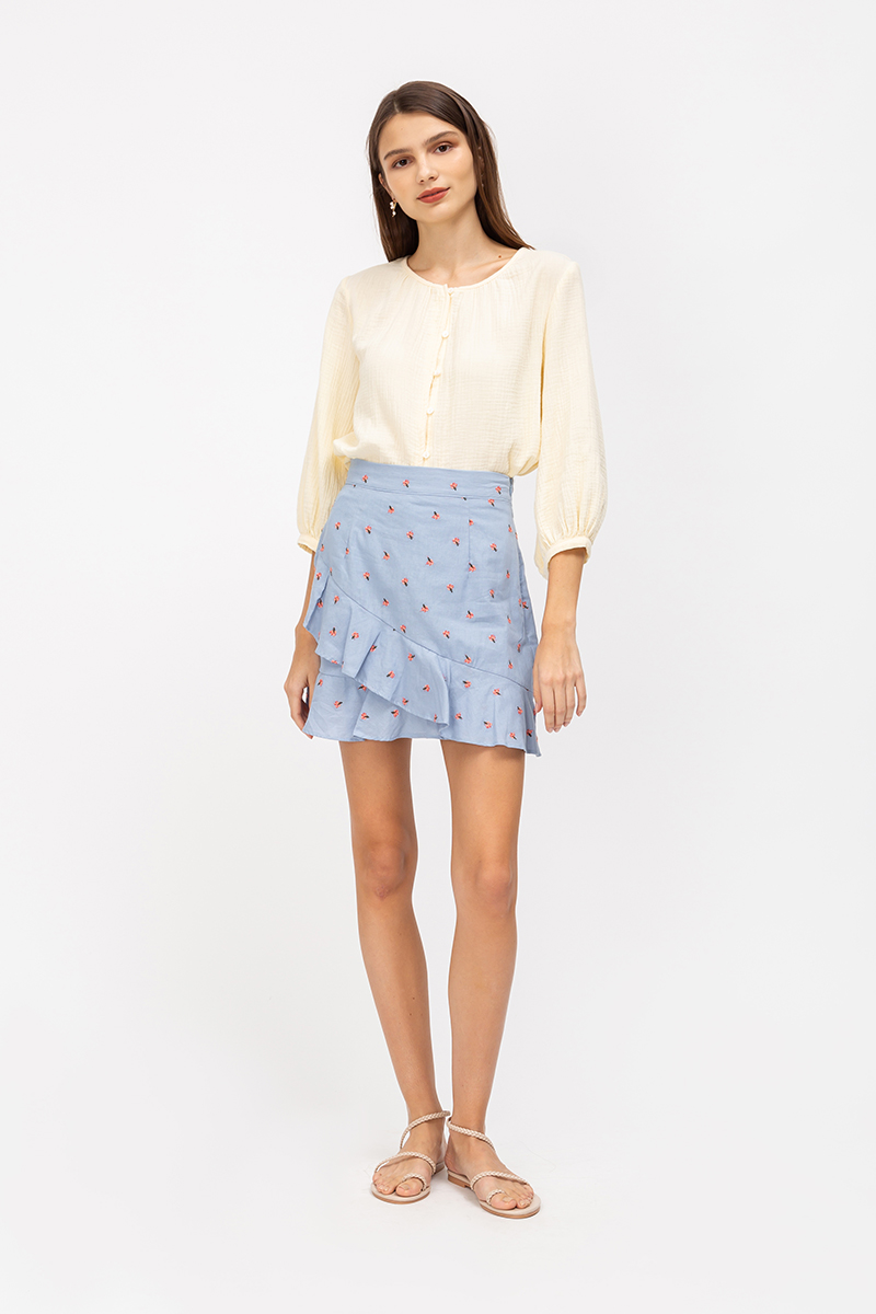NERICE FLORAL EMBROIDERY SKORTS