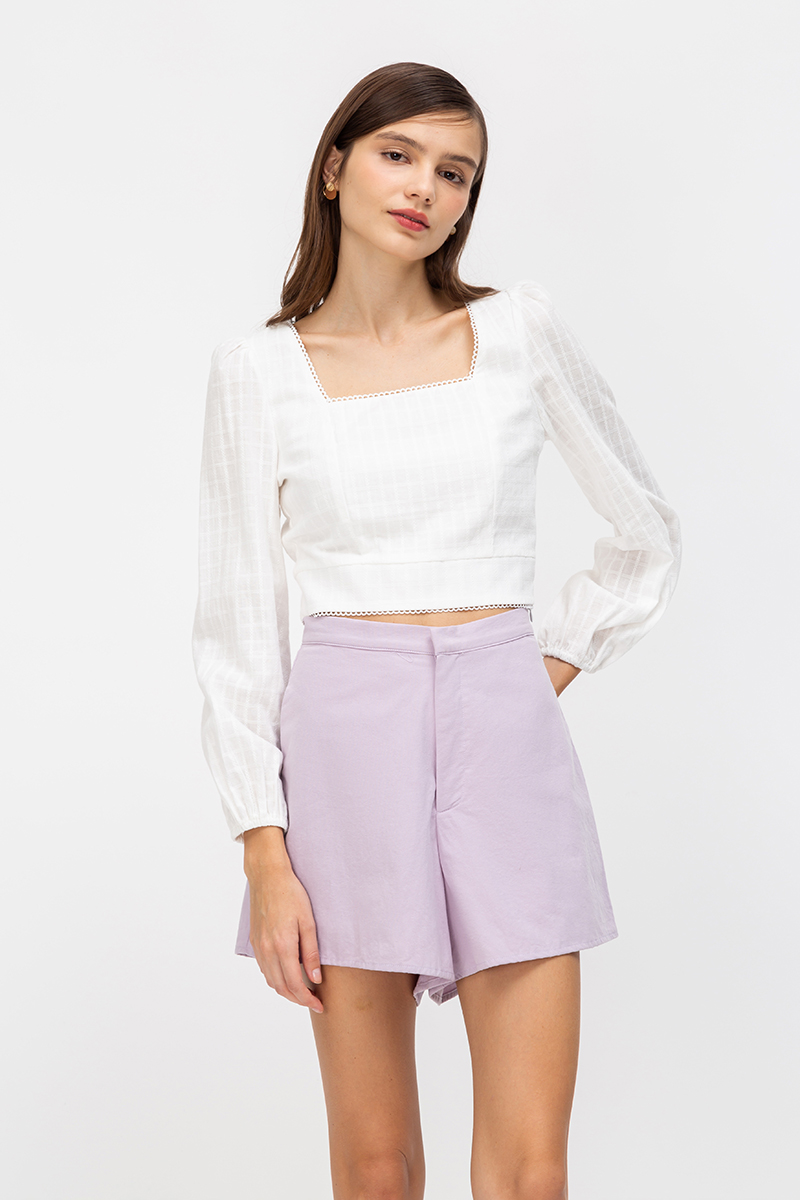 PENELOPE COTTON SQUARENECK TOP