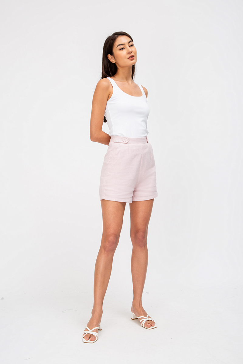 KEIVA LINEN HIGHWAIST SHORTS
