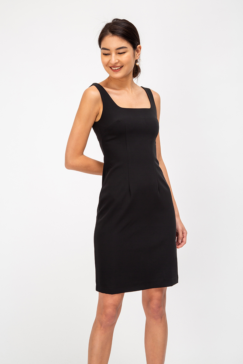 MELINDA SQUARENECK DRESS