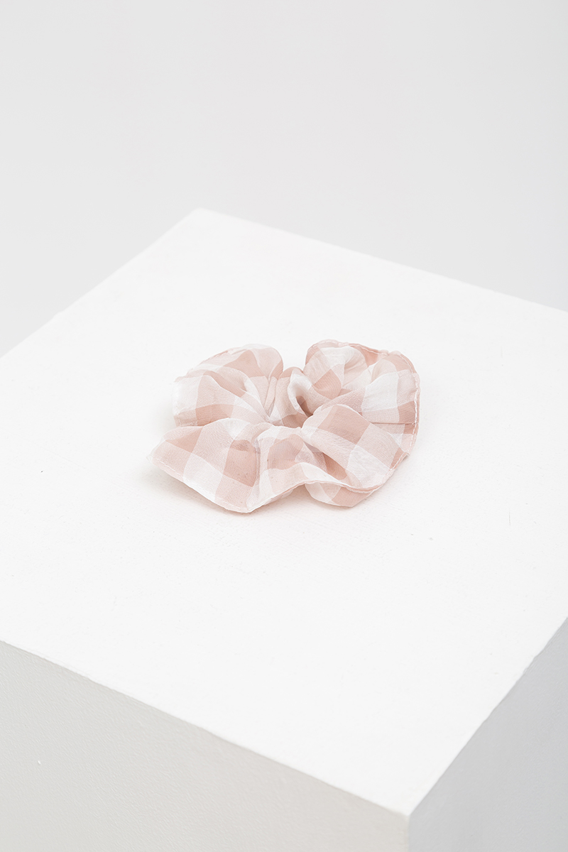 (SINGLE) CHIFFON GINGHAM SCRUNCHIE