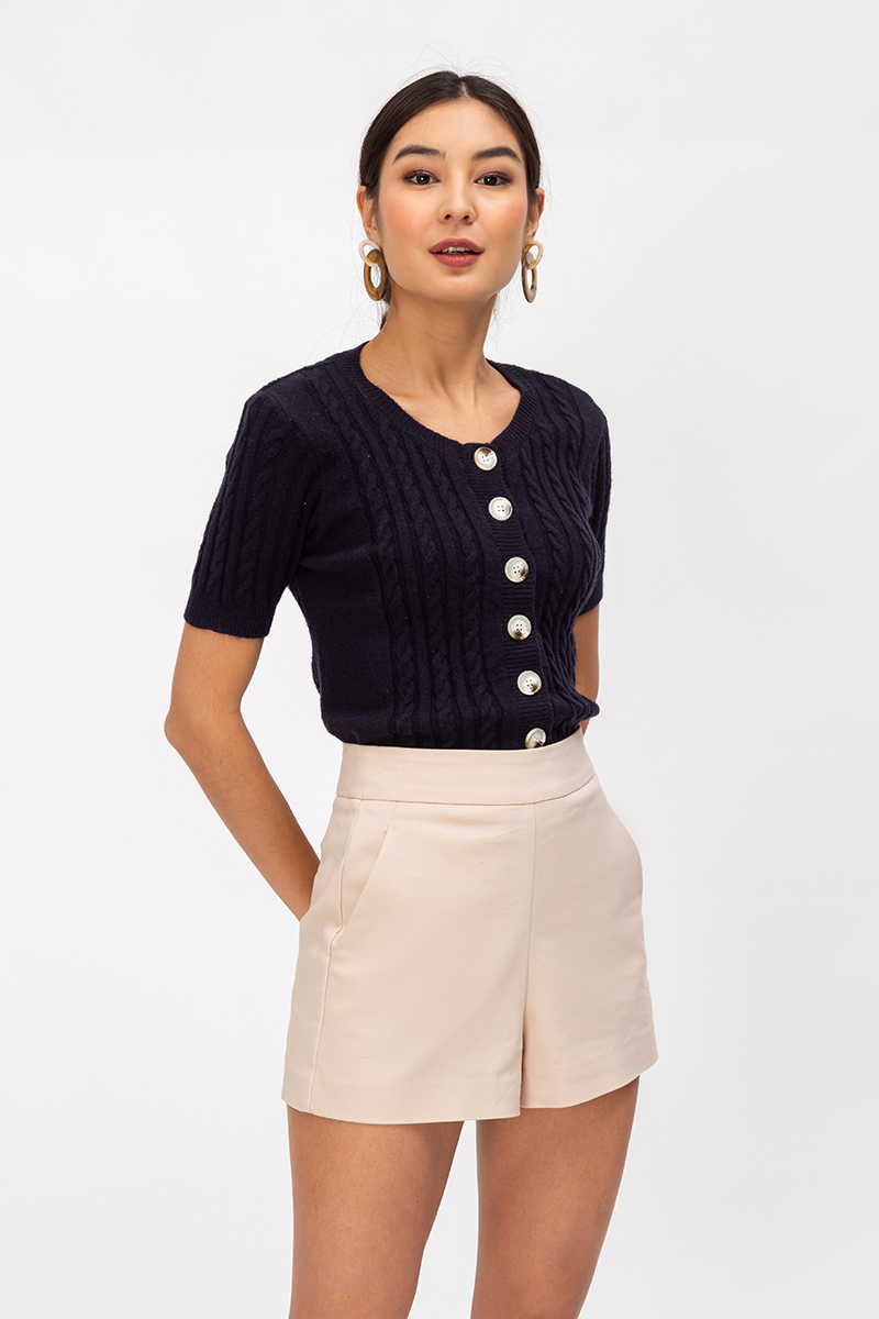 FRANKIE BUTTONDOWN KNIT TOP