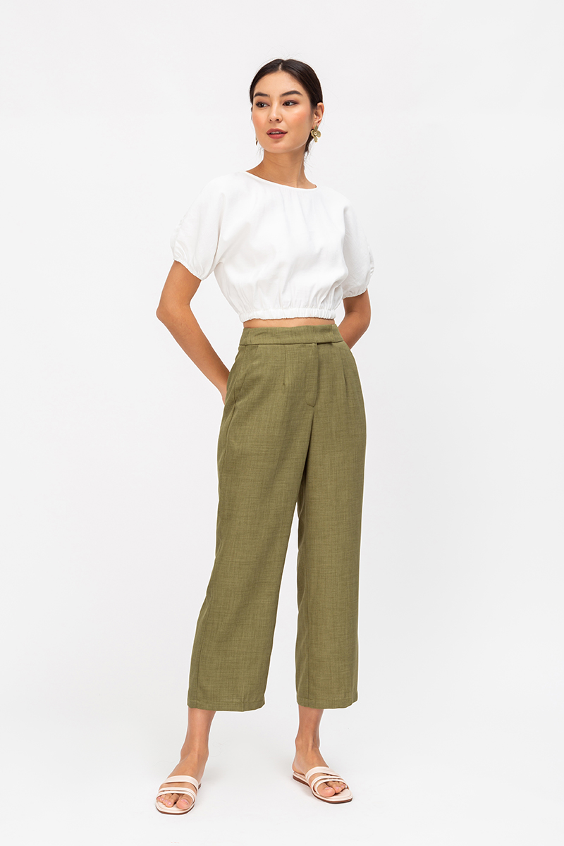 AUSTYN HIGHWAIST CIGARETTE PANTS